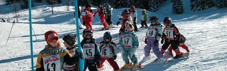 Ski school pupils